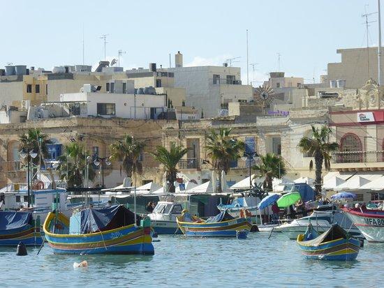 Marsaxlokk, Malta: 船がたくさん停泊