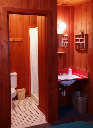 Boyne City, MI: Each guest room has a bathroom with shower.