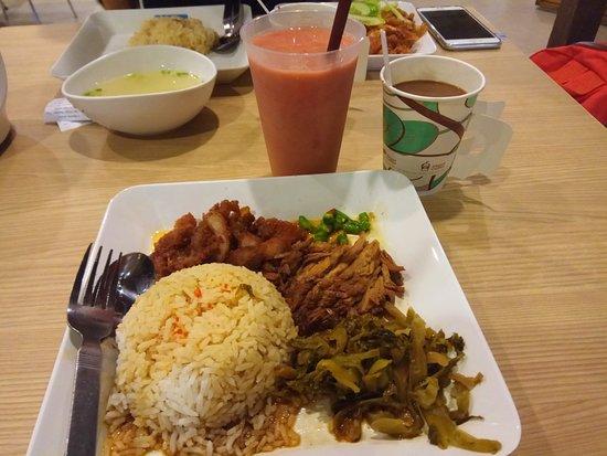 pier 21 food terminal rice w pork leg stew fried pork and preserved vegetable