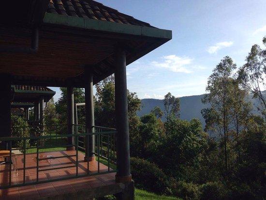 Gisakura, Rwanda: bungalo balcony