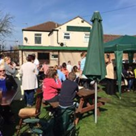 Goole, UK: The Beer Garden on a sunny day