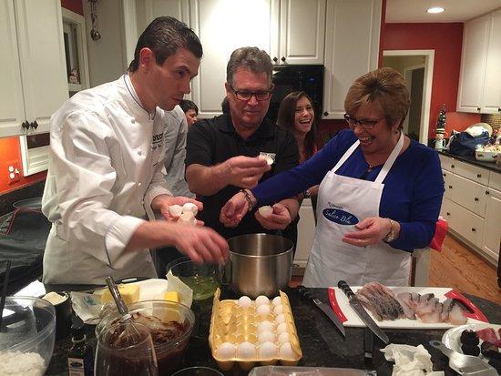 Salice Blu : Cooking class with Chef Luigi Gandola in Michigan with Villas and Vines travelers