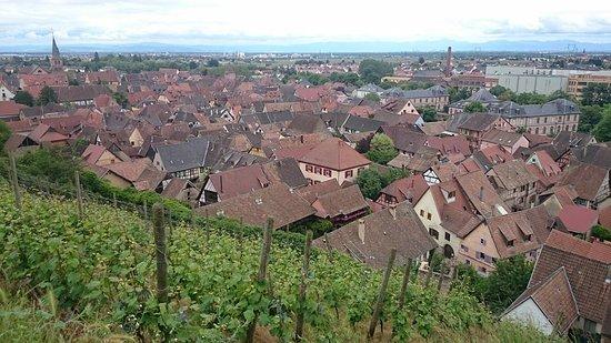 Turckheim, France : 散歩コースの「屋根コース」