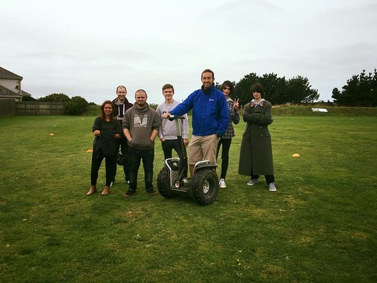 Newquay, UK: Segway sessions are superb for School and College outings!