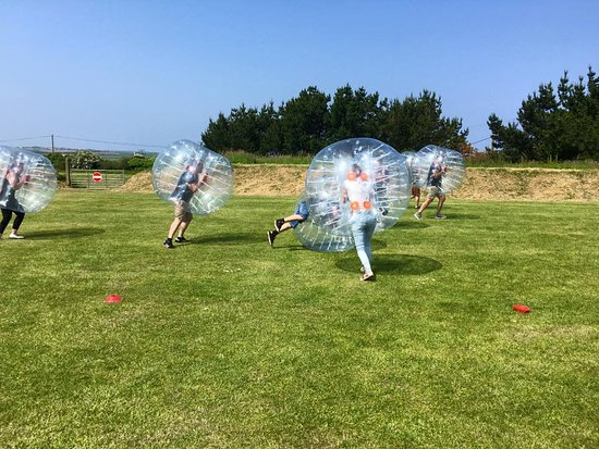 Newquay, UK: Bubble Football and Games
