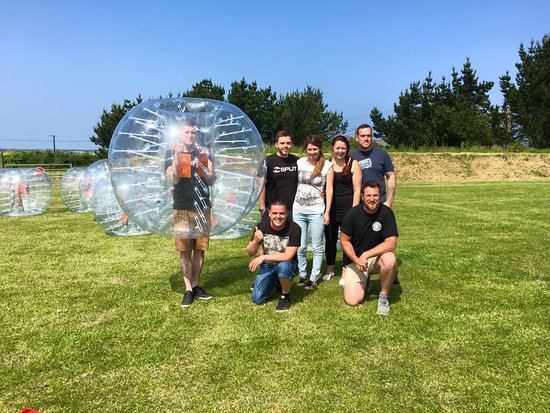 Newquay, UK: Bubble Football and Games is perfect for Stag and Hen groups!