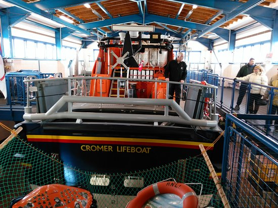 Cromer Lifeboat as visitors will see it
