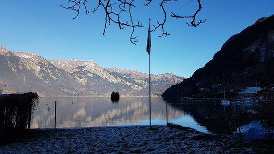 Iseltwald, Switzerland: Die Sicht aus dem Restaurant