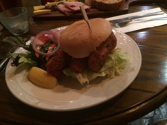 Welford on Avon, UK: Fishfinger sandwich