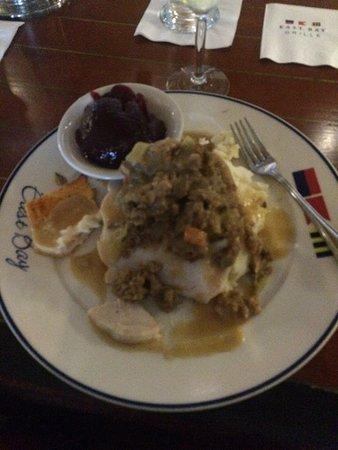 East Bay Grill : The monster turkey dinner