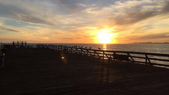 New Brighton State Beach: sunset at New Brighton SB