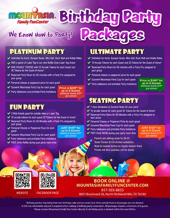 North Richland Hills, TX: Check out our great Birthday Party packages