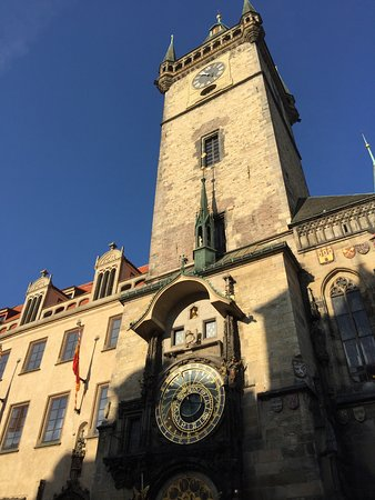 Grand Hotel Bohemia: The famous clock in the old square
