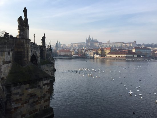 Grand Hotel Bohemia: The view across the river at St. Charles IV bridge
