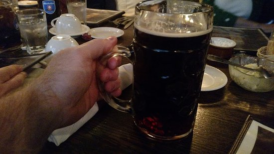 New Britain, CT: That's a very large beer (about 34 oz)