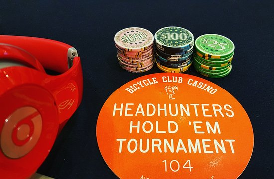 Bell Gardens, CA: Ended up being the last five players in this bounty tournament and we chopped the prize pool 5 w