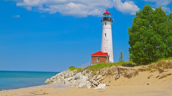 มิชิแกน: CRISP POINT LIGHTHOUSE, MICHIGAN
