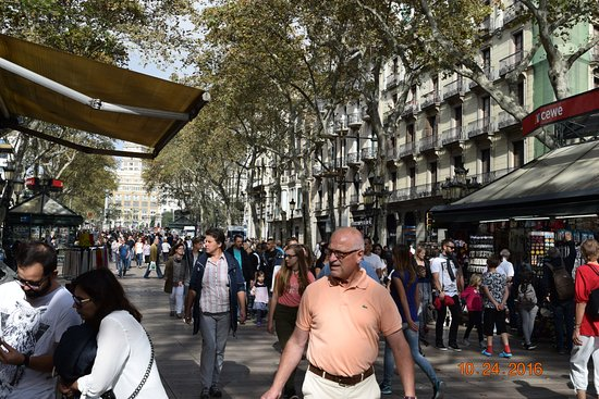 Royal Ramblas Hotel: Picture of the Ramblas right outside the hotel