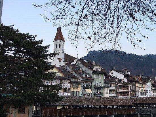 Krone Hotel-Restaurant: Blick auf Innenstadt Thun