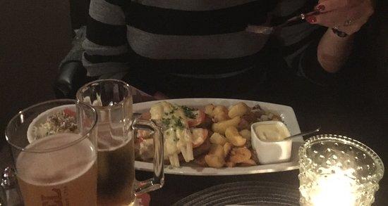 Lækker anretning med schnitzel