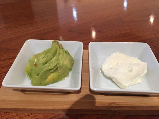 Milton, UK: Guacamole and cream cheese