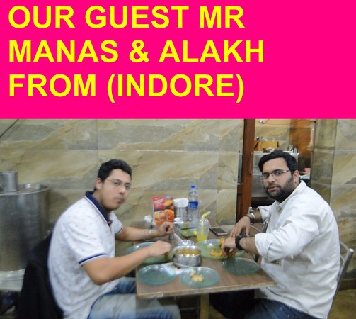 OUR GUEST FROM (INDORE)