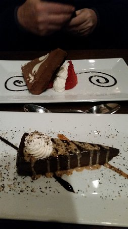 Havre de Grace, MD: chocolate coffee pie and chocolate strawberry