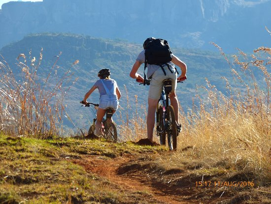uKhahlamba-Drakensberg Park, Zuid-Afrika: activiteit mountainbike