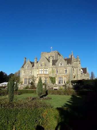 Tortworth, UK: Formal gardens and terrace.