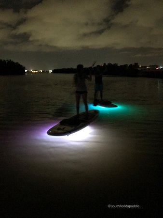 North Palm Beach, FL: Singer Island Paddleboading at night