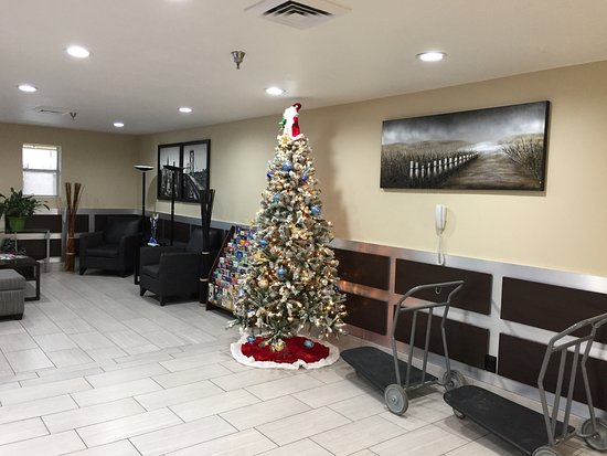 Bedford, TX: Lobby with Christmas tree