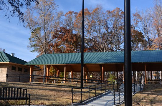 Belmont, NC: Large Picnic Shelter with Restrooms to the Left