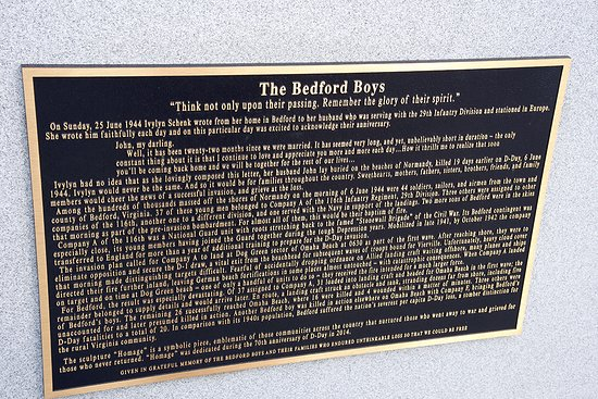 Bedford, VA: The Bradford Boys plaque...