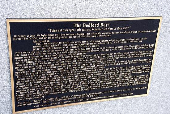Bedford, Вирджиния: The Bradford Boys plaque...