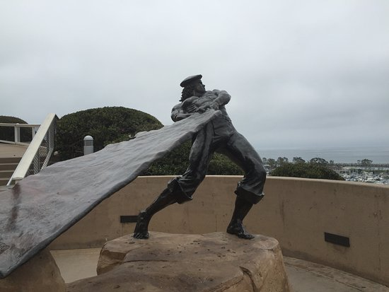 This bronze statue commemorates some of the early history of Dana Point.