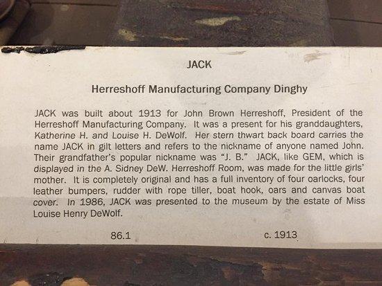 Bristol, RI: About 'Jack'