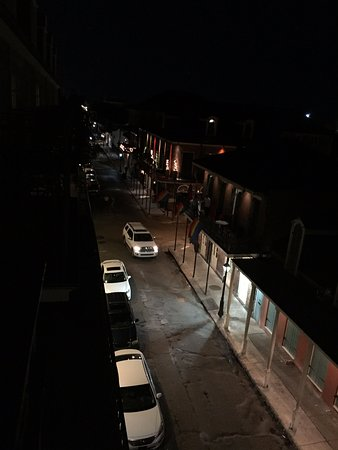 Bourbon Orleans Hotel: View from our balcony at 6pm at night. Empty and scary. Someone got shot here last week.