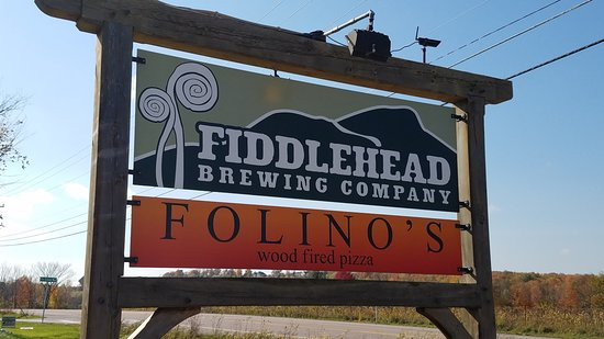Fiddlehead Brewing Company: sign you have reached the location