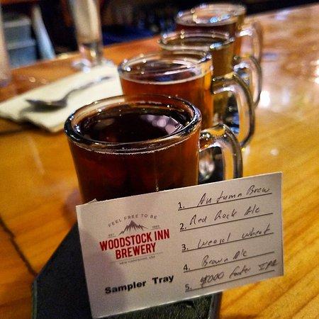 Woodstock, NH: beer flight