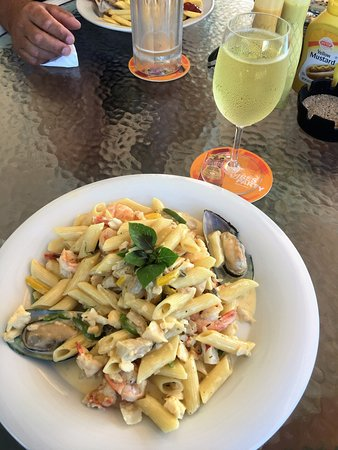 Crab Hill, Antigua: My Lunch, Seafood Pasta