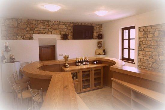 Visnjan, Croacia: Our tasting room - inside