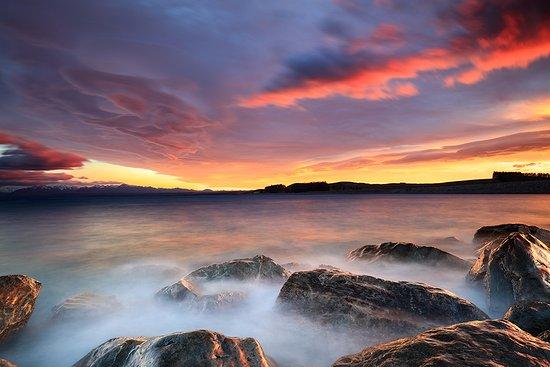 Cambridge, Nouvelle-Zélande : Taken at Lake Pukaki at sunrise during the workshop