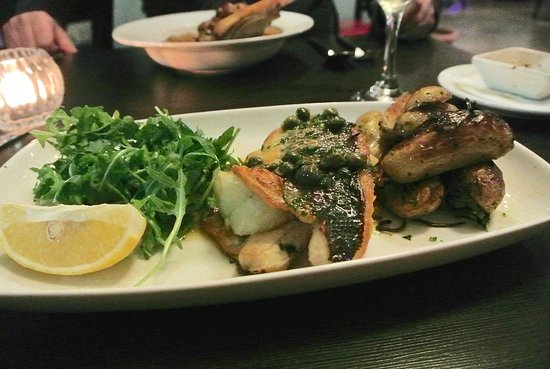 Frome, UK: sea bass and fennel