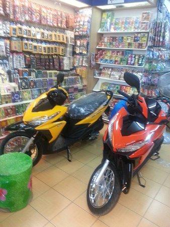 Saai Bookshop: bike rent 250/ day