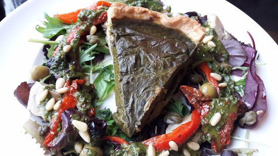 Ramsbottom, UK: Spinach Tart