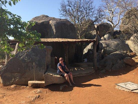 Kamanjab, Namibië: Zeltplatz, sehr privat angelegt