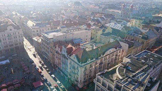 Pilsen, République tchèque : Синагога с высоты птичьего полета.
