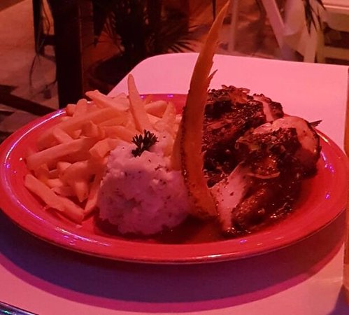 Bon Accord, Tobago: Mashed potato, french fries and grilled chicken