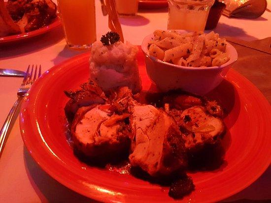 Bon Accord, Tobago: Pasta, mashed potato, grilled chicken