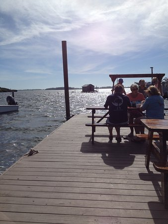 Cortez, FL: Eating lunch at Star Fish.